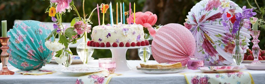 Truly Scrumptious Tea Party Themed Disposable Tableware Mothers Day Summer Party Birthday 1.JPG