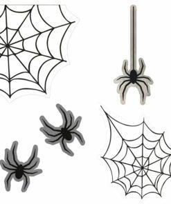 Spiders & Spiders Web Window Stickers